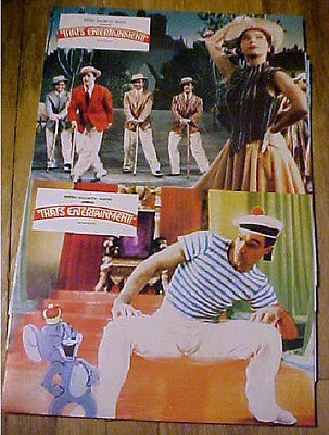 2 Original lobby cards  Gene Kelly That's Entertainment