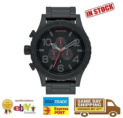 Nixon 51-30 Chrono All Black Steel Mens Watch A083-2298 A0832298 Stainless Steel