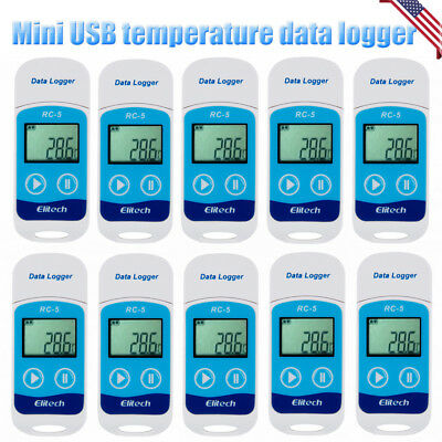 1-20x US USB Temperature Data logger Datalogger Internal Sensor 32000 Point RC-5