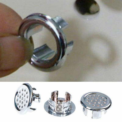 Bathroom Basin Spares Hole Sink Overflow Cover Tidy Trim Insert Fit Hole 22-24mm