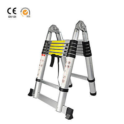 Multifunction 4-in-1 Aluminum Telescoping Telescopic Extension Ladder EN131