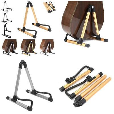 Portable Guitar Stand Foldable A-Frame For Acoustic Bass Guitars Floor Holder