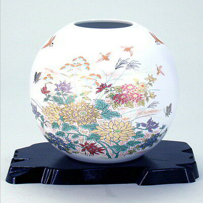 Further discount Japanese Kuatni Porcelain Vase Hand Made Colorful Flowers