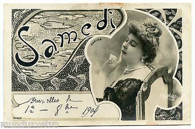 Art Nouveau. Zarina. Actrice. Actress. Reutlinger. Samedi. Saturday. New Art