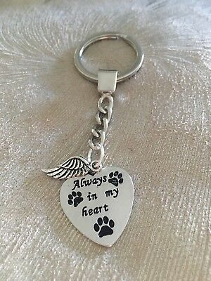 Pet Memorial Key Ring Pet Loss Sympathy Gift