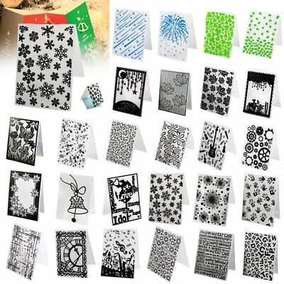 26 Pattern Embossing Folder Template Scrapbooking Paper Card Xmas DIY Craft Gift