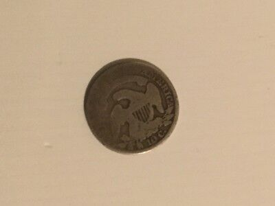 1834 capped bust 10c usa american coin silver rare