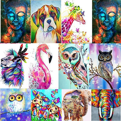 Colorful 5D Diamond Embroidery Animal Painting Cross Stitch Craft Home Entrance
