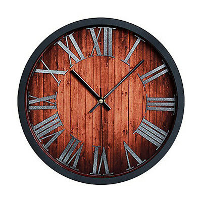 Vintage Antique Style 30 cm Wall Clock Home Bedroom Retro Kitchen Quartz (Vin SS