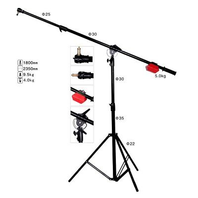 Studio Heavy Duty LS-10 Boom Arm Light Stand & 5KG Counter Weight Balancer UK