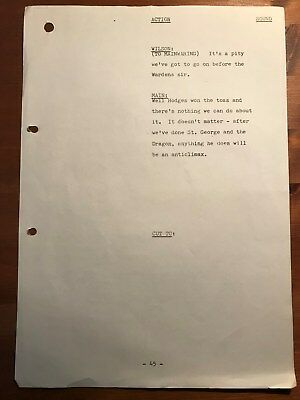 Dad's Army ORIGINAL SCRIPT page RARE Knights of Madness Dads Lowe Dunn