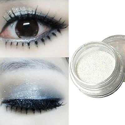 Pro Highlighter Lustre Powder Glitter, Makeup Cosmetic White Pearl Eye Shadow