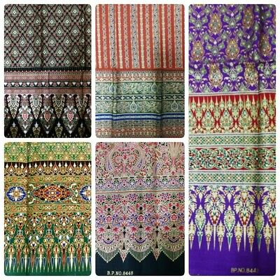 Thai table cloth skirt traditional silk pattern Asian fabric fabric costume