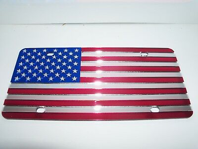 New Black and White American Flag Boston Red Sox Vanity Front License Plate