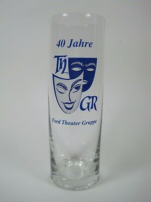 vaso THEATER GRUPPE  40 JAHRE alemania german glass beer cerveza Collectables
