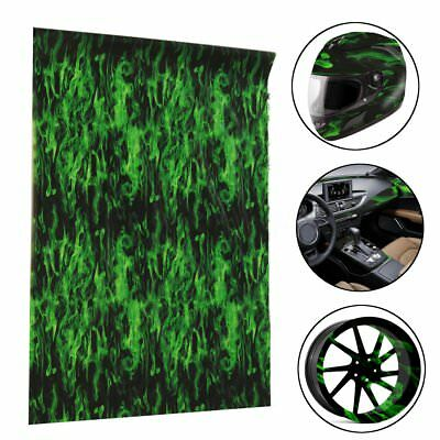 Amazing Green Fire Hydrographic Water Transfer Hydro Dipping DIP Print Car Film