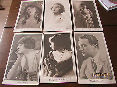 vintage 1920'2 silent film stars post cards,  lobby cards black and white *mint*