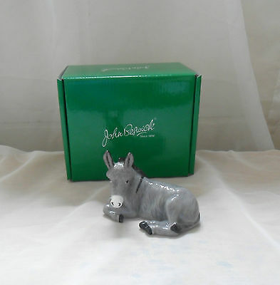 John Beswick Animals DONKEY FIGURE - DONKEY LYING GREY JBCA1/GR - New & Boxed