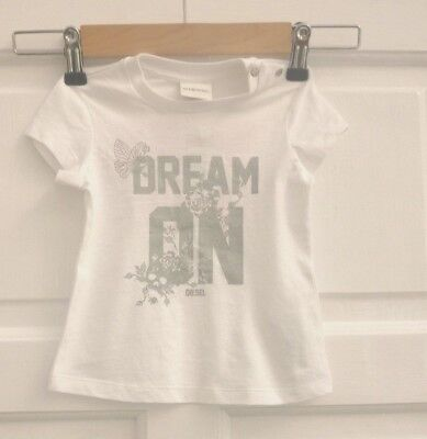 """DIESEL baby Tipidib """"dream on wake up"""" t-shirt Size 9M - new with tags Free P&P"""