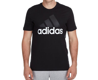 Adidas Men's Essentials Linear Tee - Black/Grey