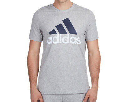 Adidas Men's Essentials Linear Tee - Grey Heather