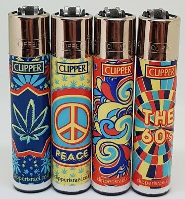 Brand New 4 Clipper Lighters The 60's Collection Full Series Unused Refillable
