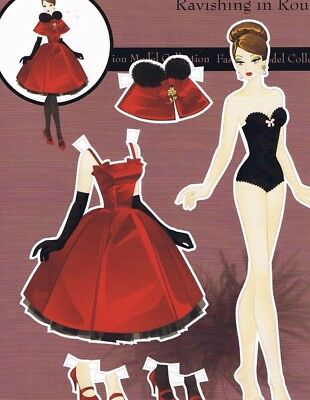 Set of Paper Dolls and Clothes Cut Outs from Haute Doll Magazine USA, Retro Goth