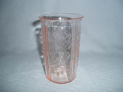 Pink American Sweetheart WATER TUMBLER MacBeth Evans Depression Glass Free Ship