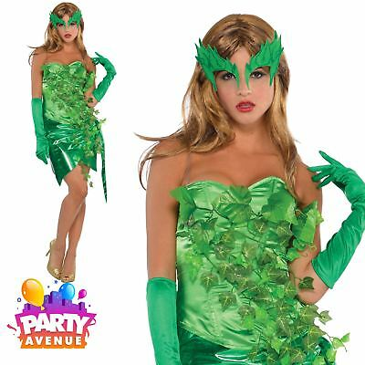 Womens Toxic Ivy Halloween Costume Poison Fancy Dress Outfit Adult