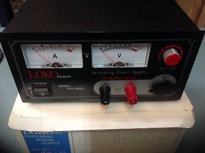 LOKO SPS1020G 25 amp switch mode pay (9-16v) with meters