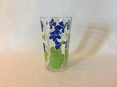 """UNUSUAL TALL 4 1/2"""" Swanky Swig Posy Violet Tumbler, Free Shipping"""