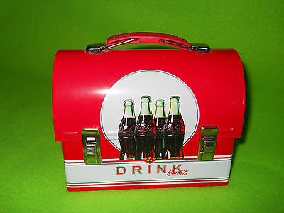 "NEW ~ COCA-COLA  Tin Lunchbox  ~   Miniature ~ 4"" tall & 5"" long"
