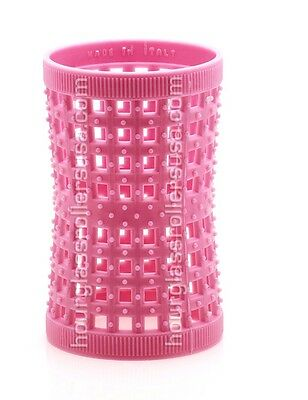 Pack of 12-Large Pink 42mm /1.65in - Hourglass Rollers All Hair Types Unisex