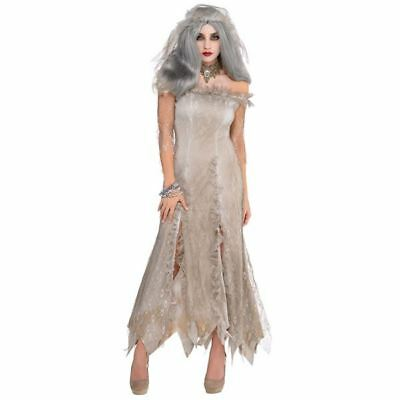 Womens Undead Bride Zombie Halloween Costume Fancy Dress Outfit Standard Size