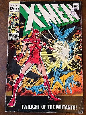"""X-Men 52 VG- Eric The Red """"Twilight of the Mutants!"""""""
