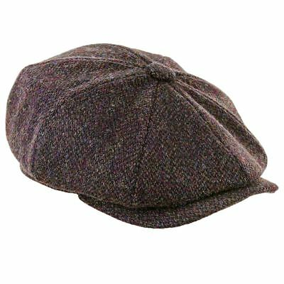 Scott Newsboy Harris Tweed 8pc Cap