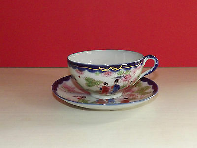 Japanese Hand Painted Cup & Saucer