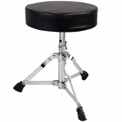 Junior Drum Stool Throne Seat Padded Top Height Adjustable From 300mm-390mm T1F