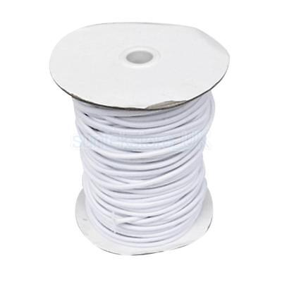 4mm 5m White Elastic Bungee Rope Shock Cord Tie Down - Boat/Trailer Covers