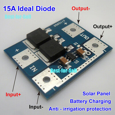 15A Ideal Diode Solar Panel / Battery Charging Anti Reverse Irrigation Module