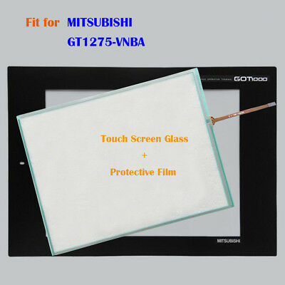 for MITSUBISHI GT1275-VNBA, GT1275VNBA Touch Panel Glass with Protective Film