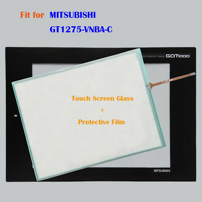for MITSUBISHI GT1275-VNBA-C, GT1275VNBAC Touch Panel Glass with Protective Film