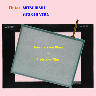for MITSUBISHI GT2310-VTBA,GT2310VTBA Touch Screen Glass with Protective Film