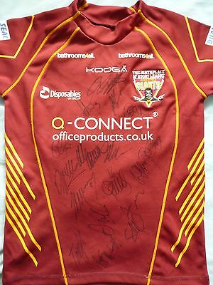 Huddersfield Giants Signed Shirt x17 - Rugby Autograph, 2017 Squad, Cudjoe