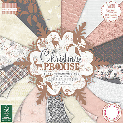 First Edition 8 X 8 Paper Pad - Christmas Promise