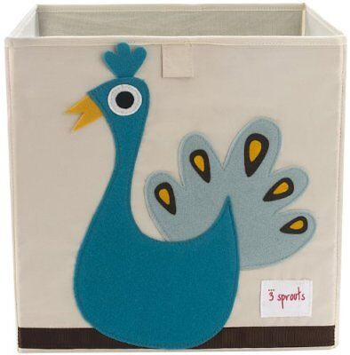 3 Sprouts Storage Box, Peacock, Blue