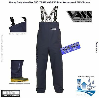 "Vass 350 ""Team Vass"" Heavy Duty Waterproof Bib and Brace NAVY"