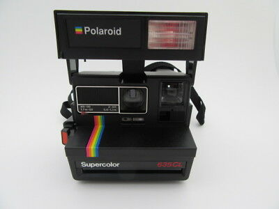 Vintage Polaroid Supercolor 635CL Rainbow Instant Film Land Camera Powers Up