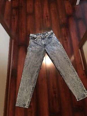 Vintage 1970's Levis Orange Tab Jeans Distressed acid washed Leather Tag 31x32
