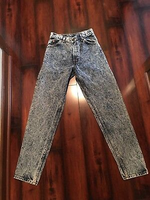 Vintage 1970's Levis Orange Tab Jeans acid washed Leather Tag 30x32